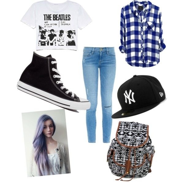 Untitled #29 by radharamsay-rr on Polyvore featuring polyvore косметика Rails Frame Denim Converse