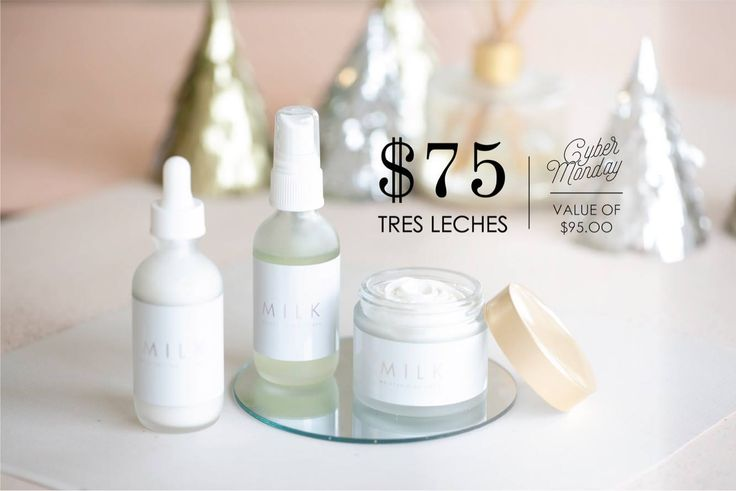 Tres leches cyber monday deal! Don't miss out! #maskcara #tresleches #milk #moisturizer #cleanser #toner #beauty #aging #wrinkles #acne #natural #miracle #highlight #contour