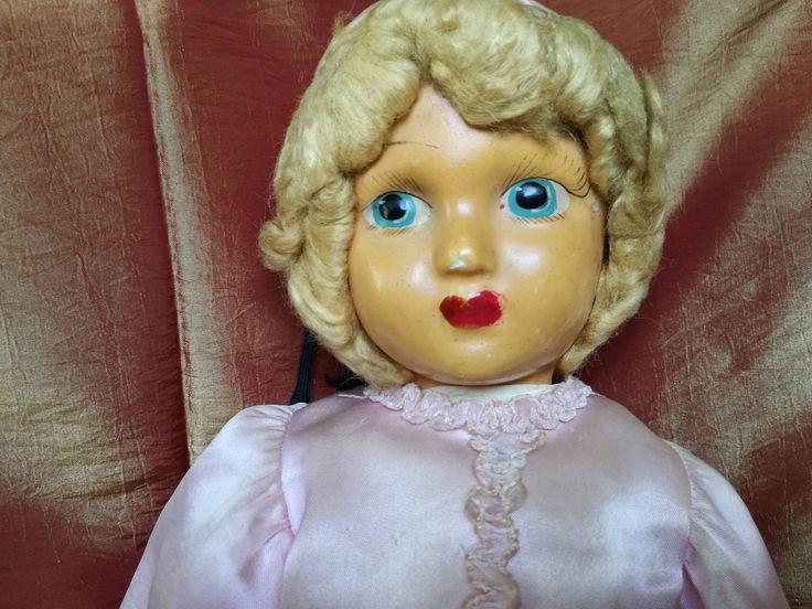 Bambola cartapesta-vecchia bambola-corpo in stoffa-bambola dipinta a mano-collezione bambole-bambola da restaurare di lovelymore su Etsy