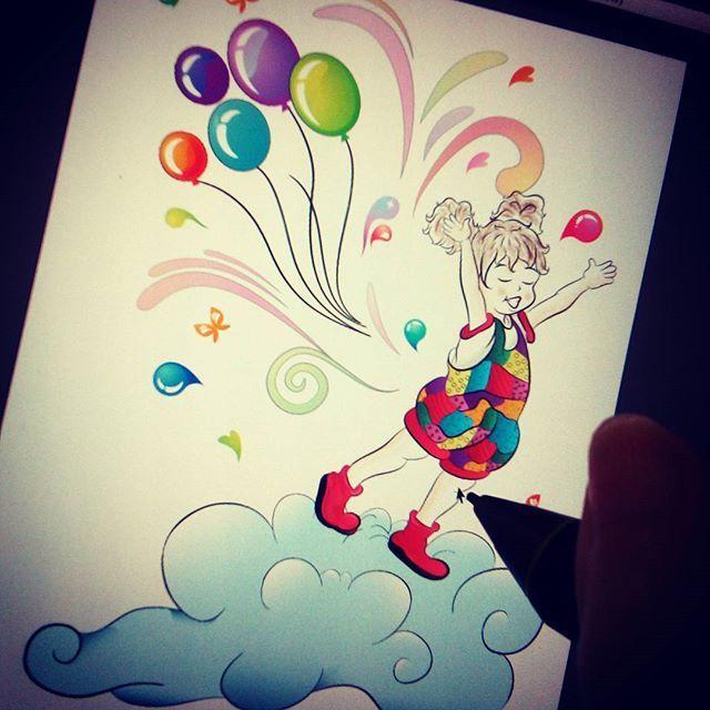 Her çocuk mutlu olmak ister.. #character #children #girl #pose #instagram #illustration #design #sketch #style #doodles #doodleart #wacom #cintiq #adobeillustrator #vector #balloon #color #life #painting #digitalart #drawing #shutterstock #vektor #cocuk #cizim #balon #özgürlük #mutluluk #happy #cute #design