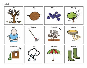 För att skriva ut pratkartan klicka här: Pratkarta hösten Bilderna kommer från Bildstöd