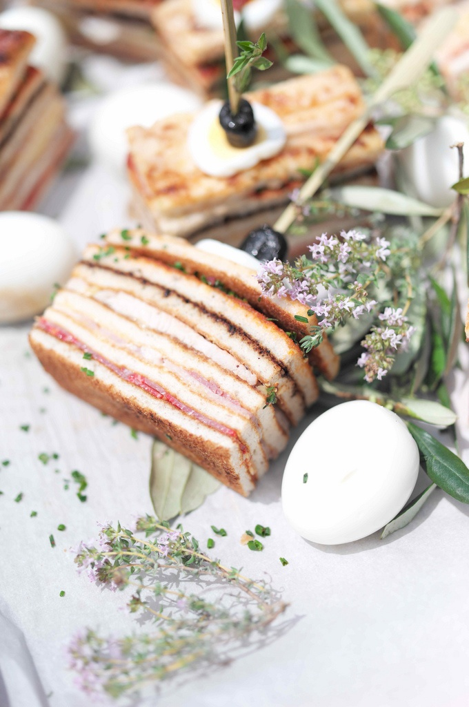 Elegant tea sandwiches high tea food drinks for Club sandwich fillings for high tea