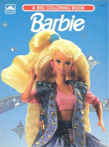 Vintage 1991 1989 Barbie Coloring Activity Book By Golden