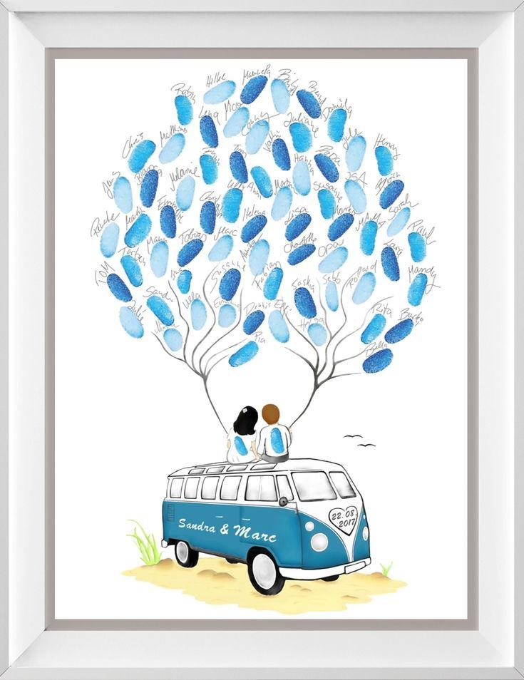 Fingerabdruck Baum & Wedding Tree zur Hochzeit – p…