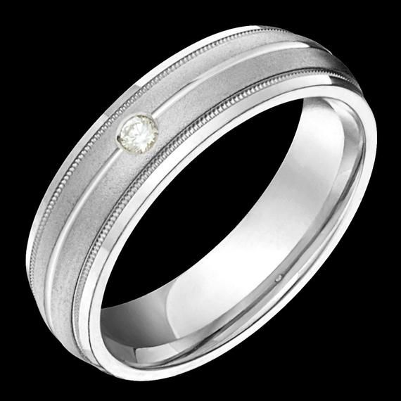 6mm Wide Comfort Fit 10k White Gold Solid Not Plated Diamond Wedding Band Unisex In 2020 Diamond Wedding Bands Fashion Rings Silver White Gold