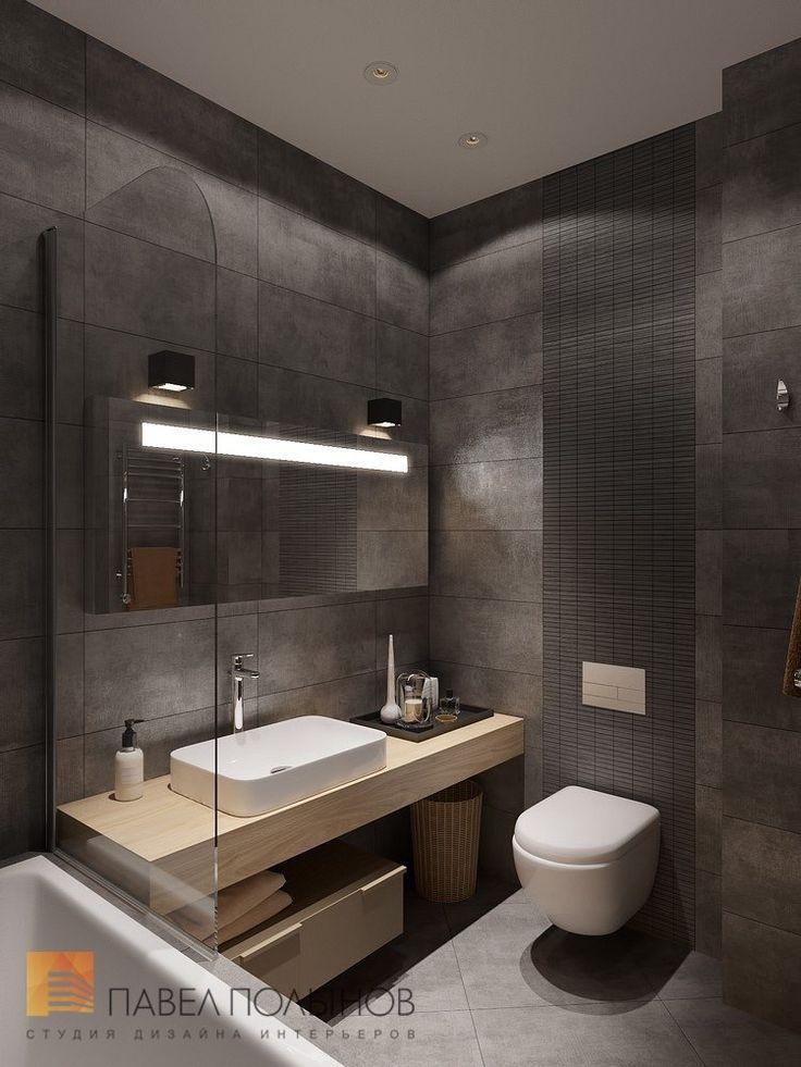 Фото дизайн ванной комнаты из проекта «Дизайн трехкомнатной квартиры 84 кв.м. в современном стиле, ЖК «Резиденс»»