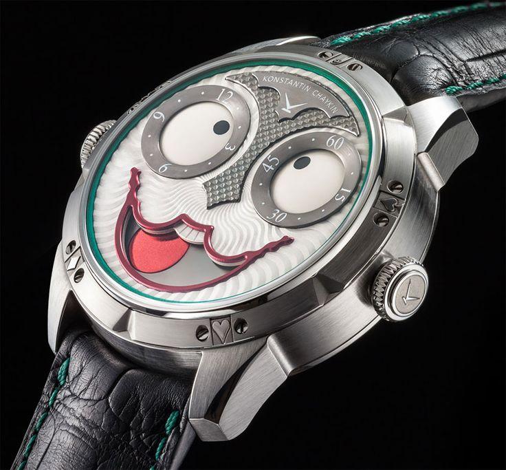 Cet horloger a conçu une montre insolite en référence au Joker de Batman