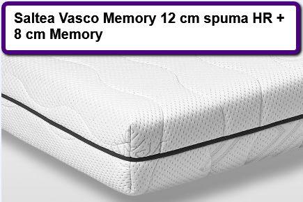 Saltea Vasco Memory 12 cm spuma HR + 8 cm Memory