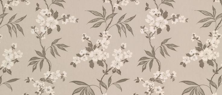 Calissa Marble Grey Cotton Fabric at Laura Ashley