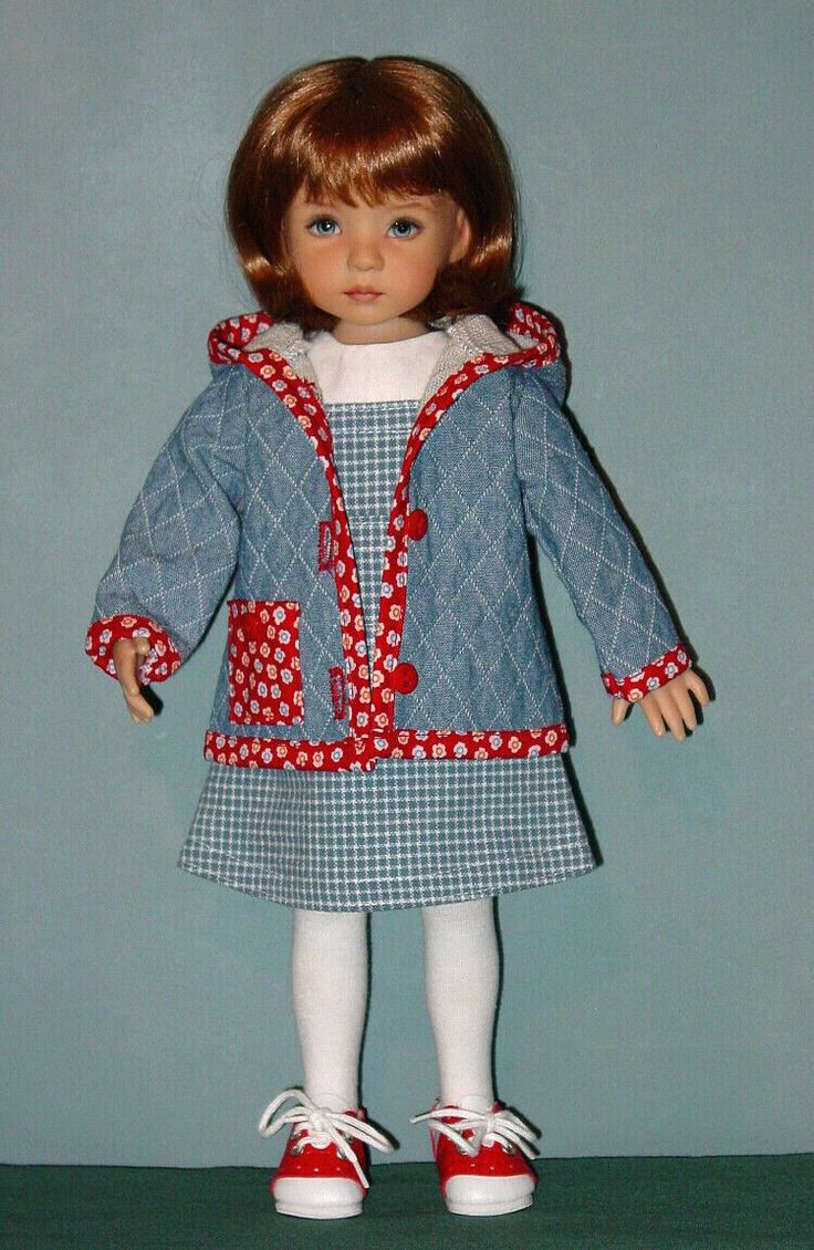 """nice JUMPER, BLOUSE & HOODED JACKET for 13"""" Effner Little Darlings ~ By Darla Howell Check more at https://aeoffers.com/product/baby-toys-and-games-clothing-shoes/jumper-blouse-hooded-jacket-for-13-effner-little-darlings-by-darla-howell/"""