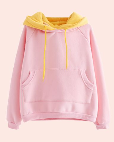 LIMITED solid blue and pink hoodie