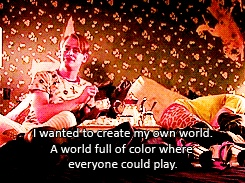 Awesome  I wanted to create my own world full of color where everyone could play