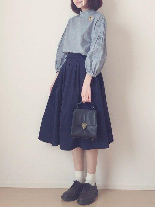 peu presのシャツ/ブラウス「50Sブロード ハイネックピンタックブラウス」を使ったMAYUKOのコーディネートです。WEARはモデル・俳優・ショップスタッフなどの着こなしをチェックできるファッションコーディネートサイトです。