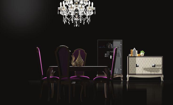 Con unos acabados en tonos oscuros, esta mesa de diseño de estilo moderno es perfecta para hacer de tu espacio un sitio único y original. Con sus materiales de primera calidad hacen de esta un resplandeciente complemento. Consulta consotros cualquier duda en nuestra tienda de muebles moderno y baratos en Madrid.