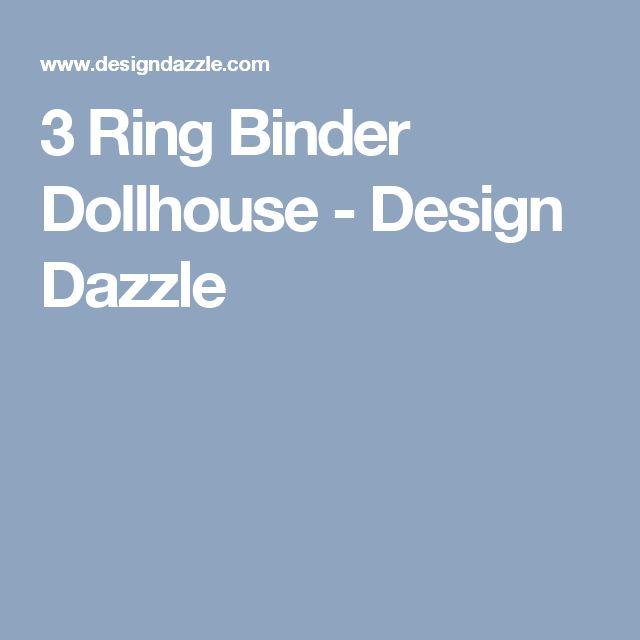 3 Ring Binder Dollhouse - Design Dazzle