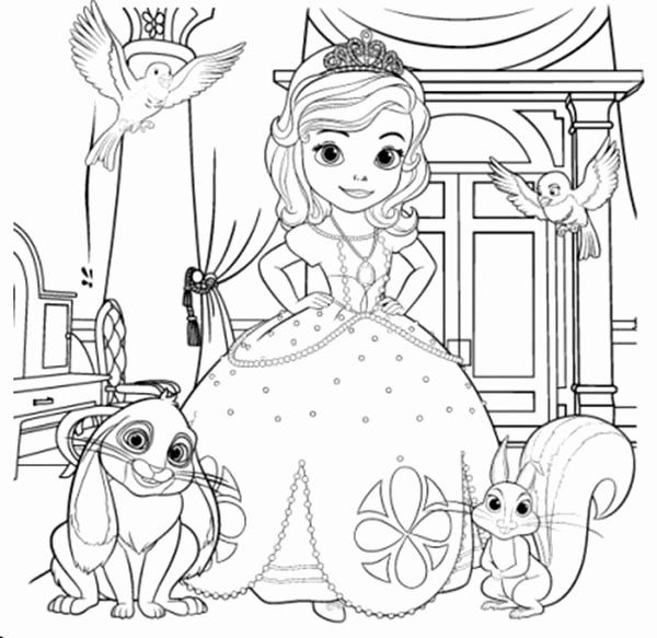 Sofia The First Coloring Book Fresh Sofia The First And Her Friends Coloring Page Netart Cat Coloring Book Coloring Pages Disney Coloring Pages