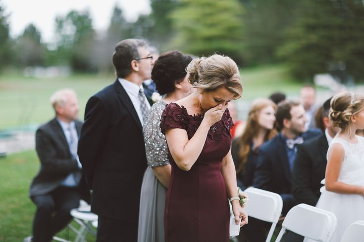 Mother of the Bride Crying when She sees Her Daughter Walking in Curescu Photography Danny and Julia Windsor Ontario Photographer