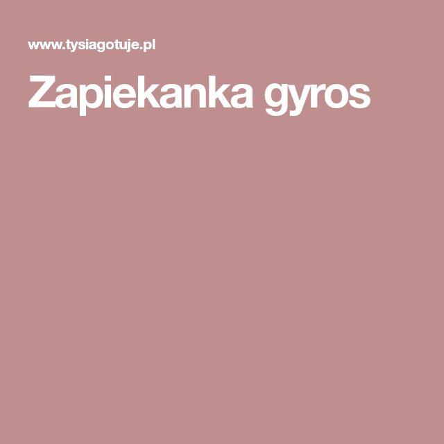 Zapiekanka gyros