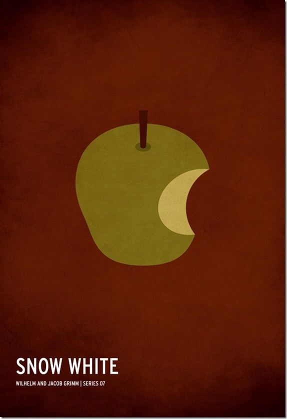 Snow White | If the posters for the well-known fairy tales do in a minimalist style