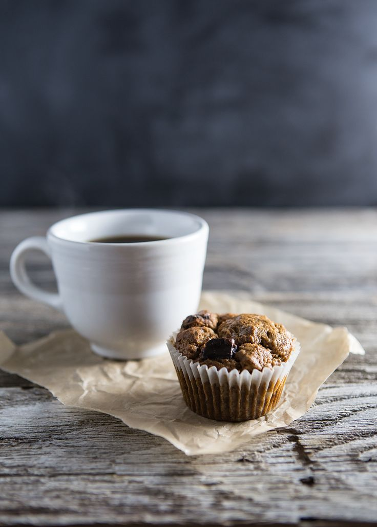 Dark Chocolate Banana Nut Muffins (vegan, gluten-free) Perfect with coffee!:
