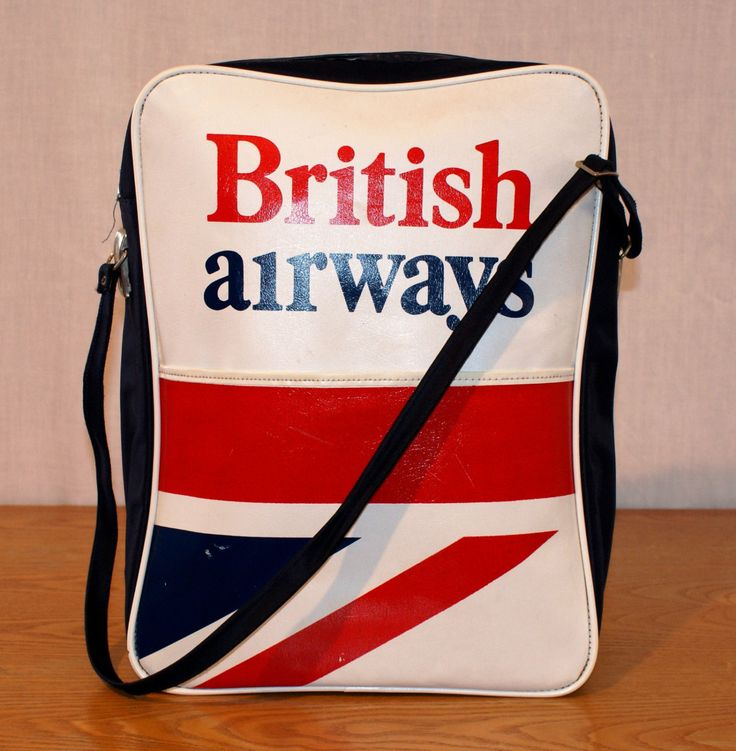 Flying Back to the 70s! Original BA Crew Bag Excellent Condition Unisex British Airways Borsa Equipaggio Crew Bag Vintage Originale Unisex di BeHappieWorld su Etsy