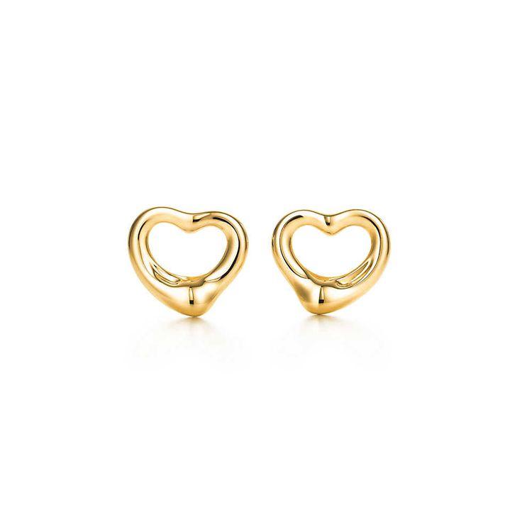 Elsa Peretti® Open Heart earrings in 18k gold. | Tiffany & Co.