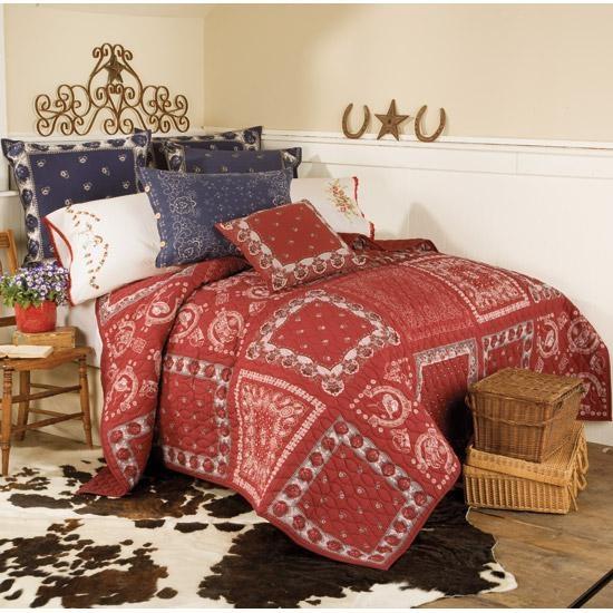 Bandana Patchwork Bedding Bedroom Accessories Western