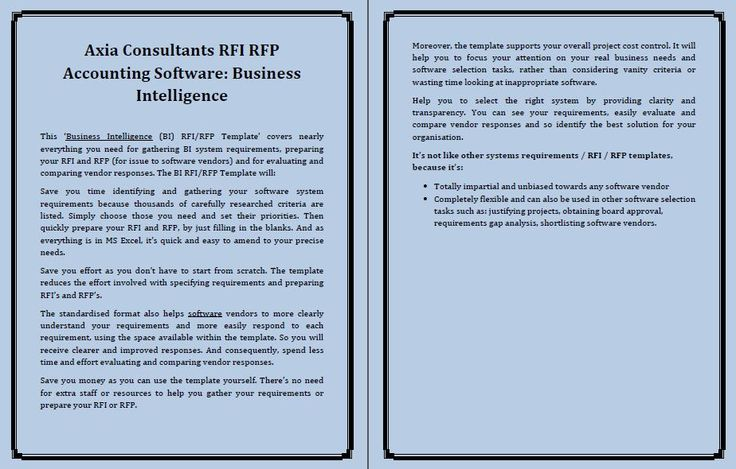 Axia Consultants Rfi Rfp Accounting Software Commendations