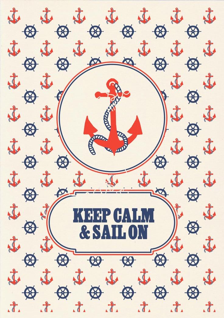 Keep calm and sail on -  Vintage nautical Print