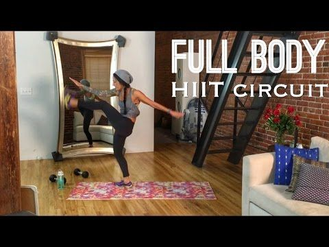 HIIT Full Body Fat-Burning Home Workout (Hotter for the Holidays Part 2) - YouTube