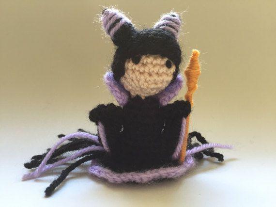 Maleficent Crochet DollHandmade Crochet DollMini Amigurumi