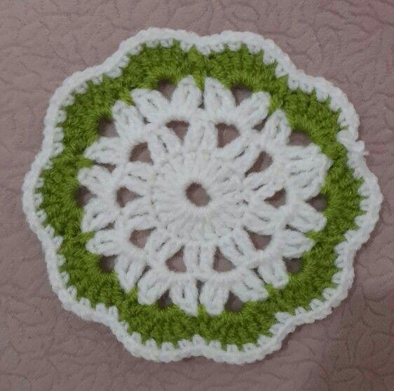 Crochet örgü bardak altlığı