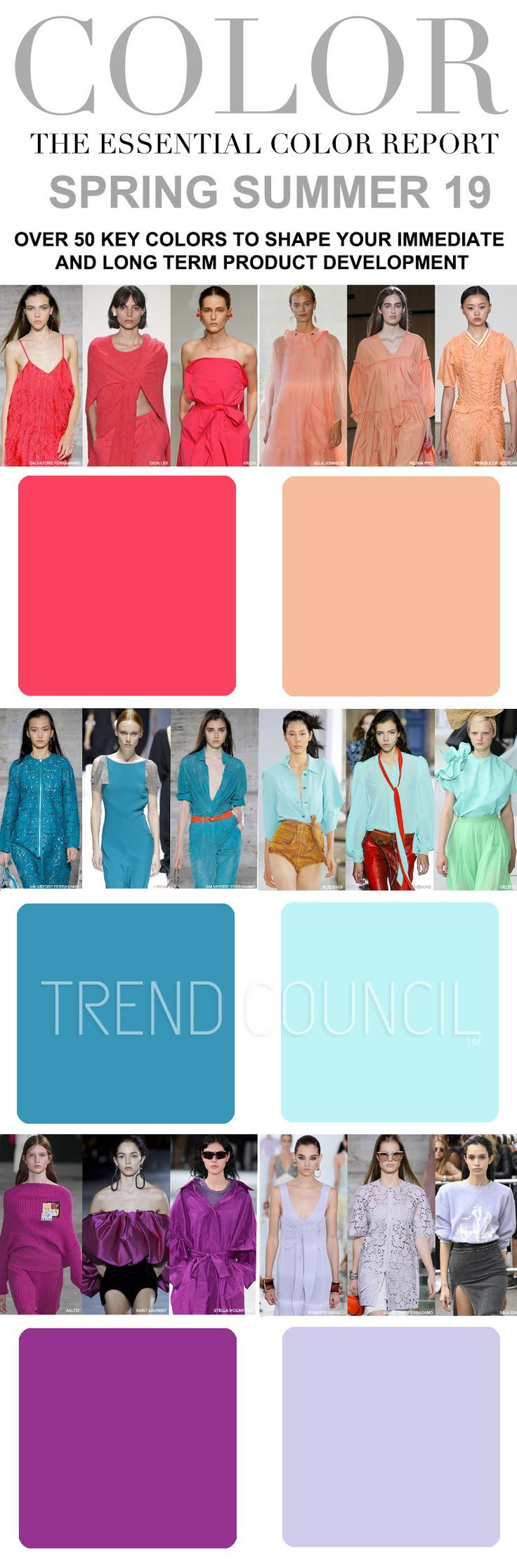 S/S 2019 womens colors trends