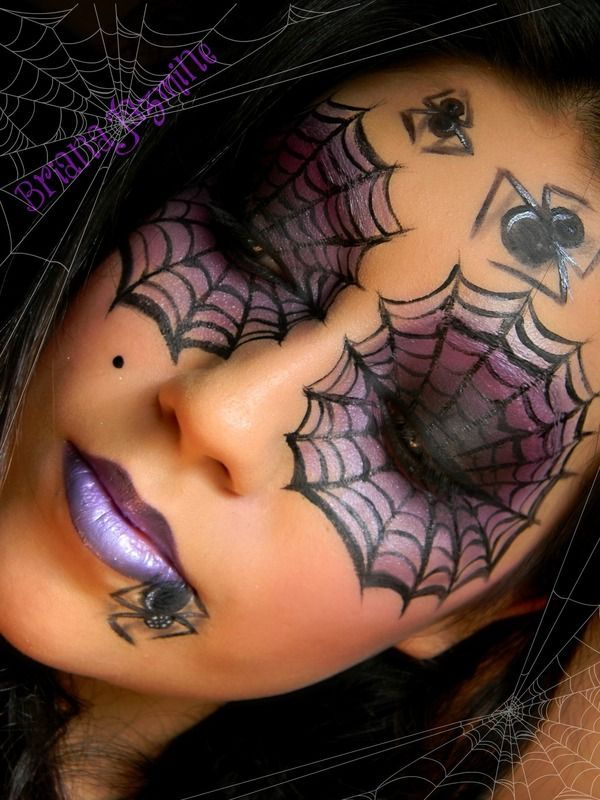 Purple & Black Smokey Spider Web Eyes