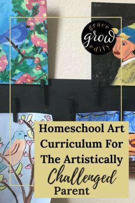 Homeschool Art Curriculum For The Artistically Challenged Parent • Homeschool Art • Art for Homeschoolers • Art Curriculum • Art Programs • Online Art • Online Art Class • Online Homeschool Art Class • #artwork #homeschool #homeschooling