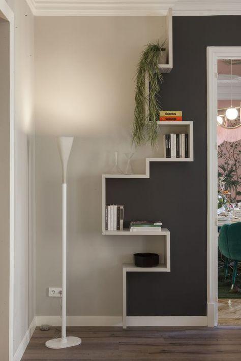 Hier einige Beispiele für die Verwendung von Gipskartonplatten als Alternative zu Möbeln, zum Beispiel für