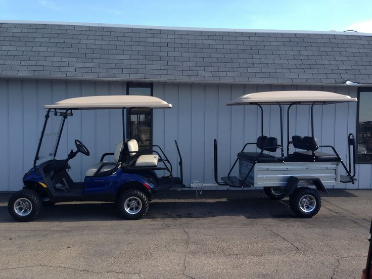 15 best ideas images on pinterest camp trailers golf carts and this custom yamaha drive golf car and matching passenger tram are ready for delivery this particular tram was equipped with twin seats hard top lift kit solutioingenieria Images