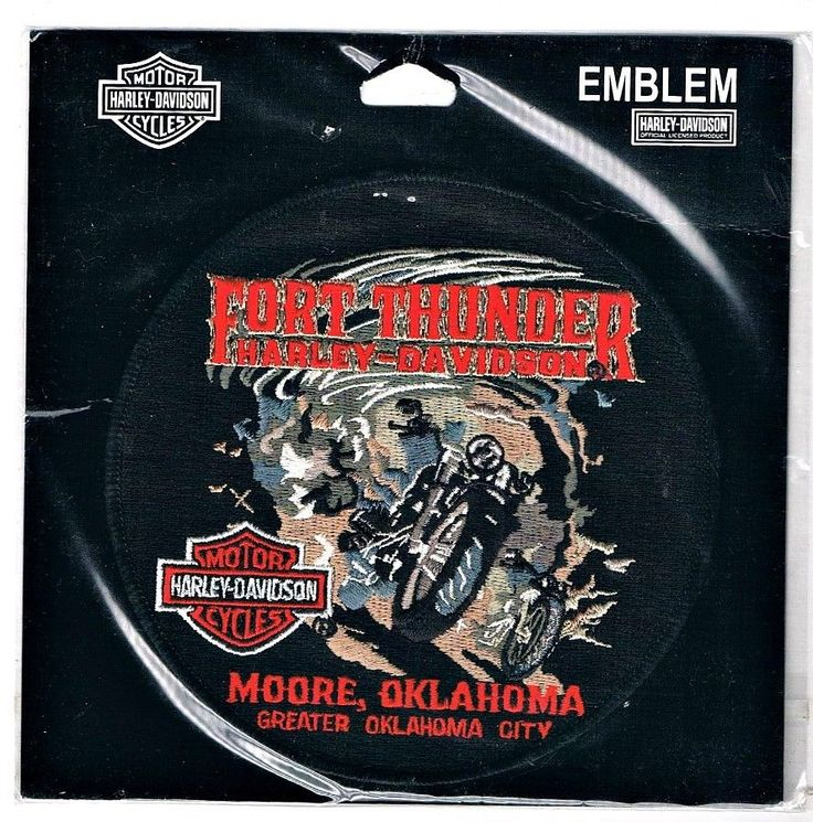 Harley Davidson Patch Moore Oklahoma  Fort Thunder