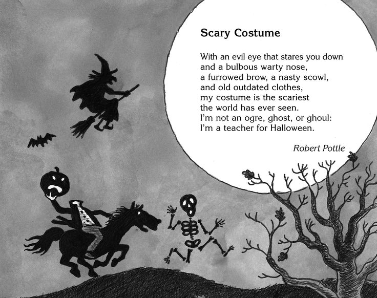 Scary Costume, a petrifying poem by Robert Pottle