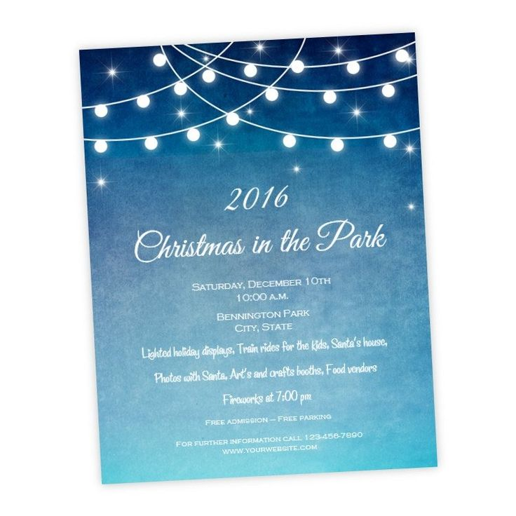 56 best Christmas Party Invitations images on Pinterest - invitation flyer template