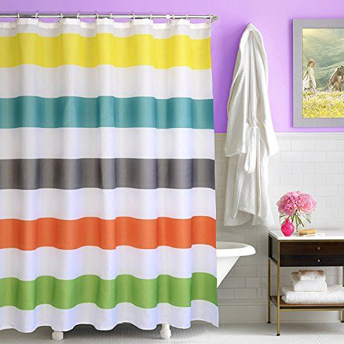 "Amazon.com - Best Token Polyester Shower Curtain Mildew Free Resistant, 70""x 72"" (scn-1) -"