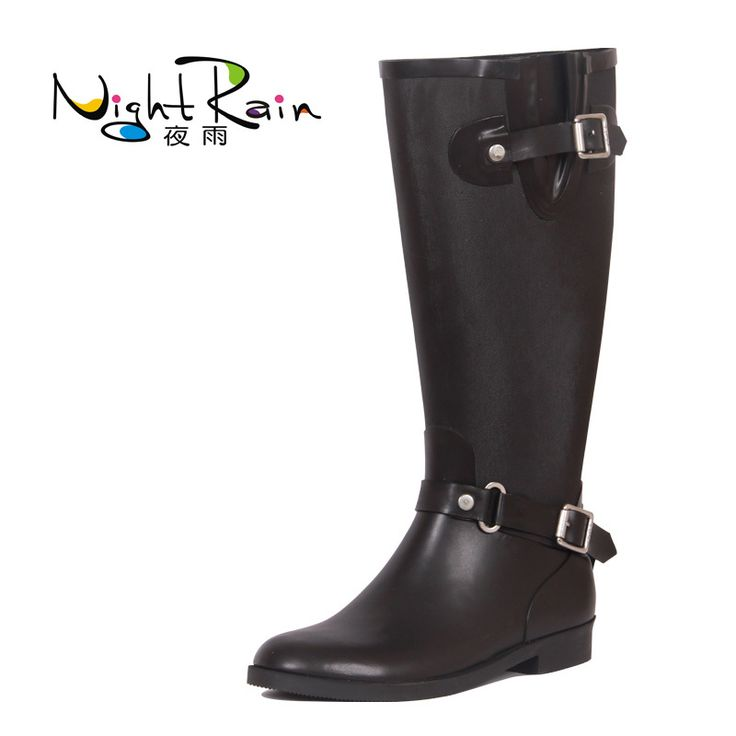 Zlyc Women's Knee High Rain Boots Galoshes 91
