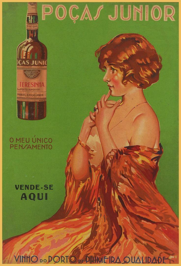 Cartaz antigo de publicidade à Poças