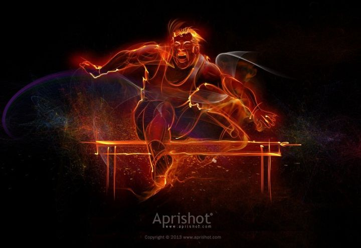 Flamed Hurdle by Aprishot. See more artworks in Flame Painter Gallery on https://www.escapemotions.com/gallery