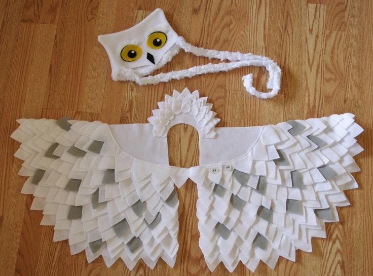 Owl Costume- Snowy Owl- Imagination Play- Dress Up- Hedwig- Harry Potter- Halloween. $74.00, via Etsy.