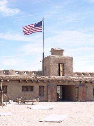 Bent's Old Fort -- reconstructed fort along the Santa Fe Trail