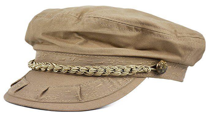 184cefb6 Deewang Mens Light Weight, Greek Fisherman Sailor Cap, Fiddler, Summer Hat  (Khaki, L/XL)