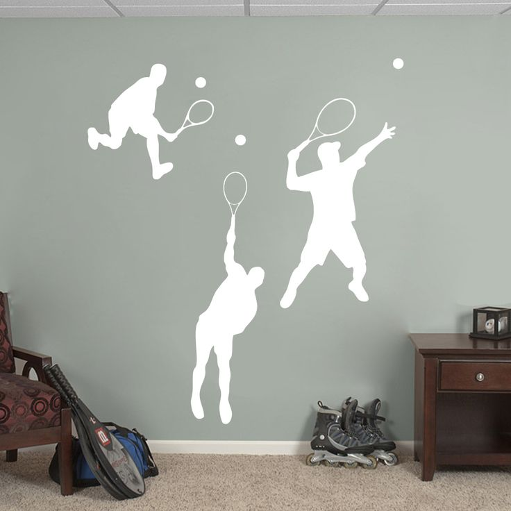 Tennis Guys Wall Decal Set