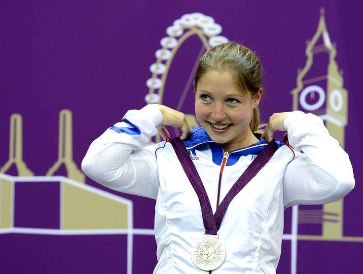 Céline Goberville médaille d'argent au tir à 10m