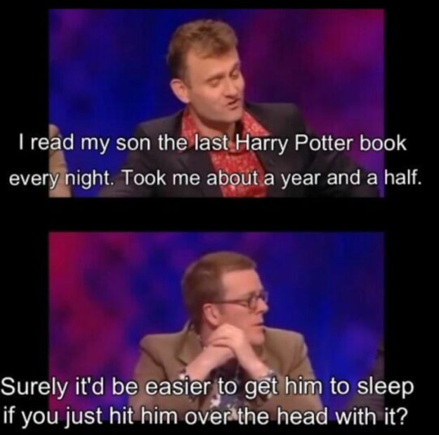 "When Frankie Boyle had some parenting advice. | 31 Times ""Mock The Week"" Was The Funniest Show On TV"